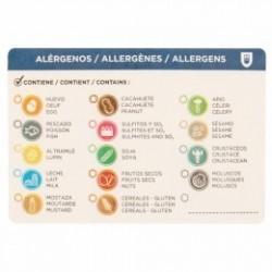 R/500U ETIQUETA ALERGENOS 7,5X5CM