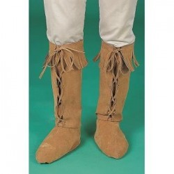 CUBREBOTAS ADULTO FLECO MARRON