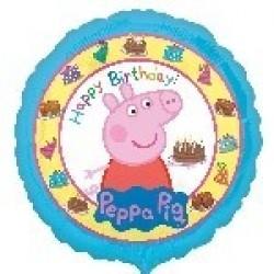 "GLOBO 18"" FOIL PEPPA PIG BIRTHDAY"