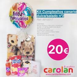 KIT CUMPLEAÑOS CANARIO DULCE/SALADO N2