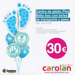 *CENTRO DE GLOBO PIES BABY BOY