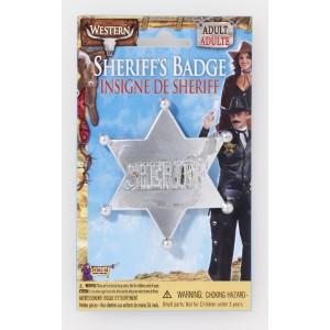 PLACA ESTRELLA SHERIFF PLATA