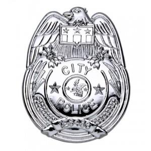 PLACA POLICIA PLATEADA