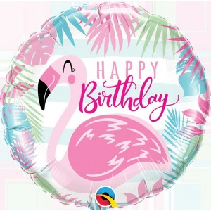"GLOBO 18"" FOIL H.BIRTHDAY FLAMENCO"